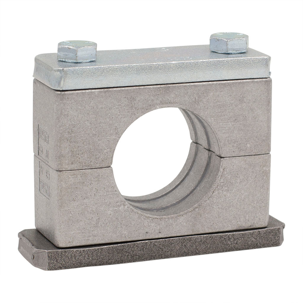 "1/8"" Pipe Clamp (0.39"" I.D.) Heavy Series Aluminum Clamp Zinc-Plated Hardware"