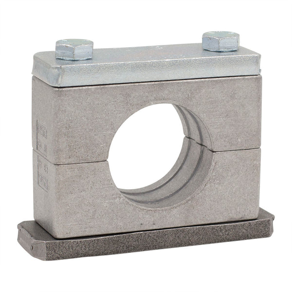 "2"" Pipe Clamp (2.37"" I.D.) Heavy Series Aluminum Clamp Zinc-Plated Hardware"