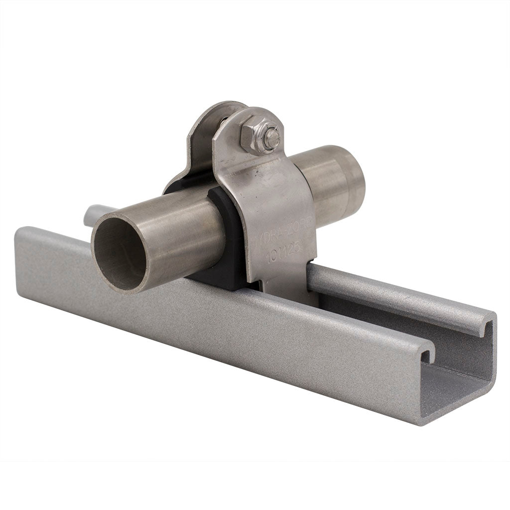 "3/8"" Tubing (0.375"" I.D.) Cushion Clamp 304 Stainless Steel"