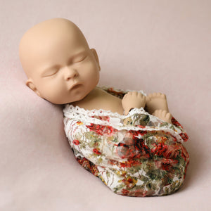 Autumn Floral Baby Wrap w/ Trim