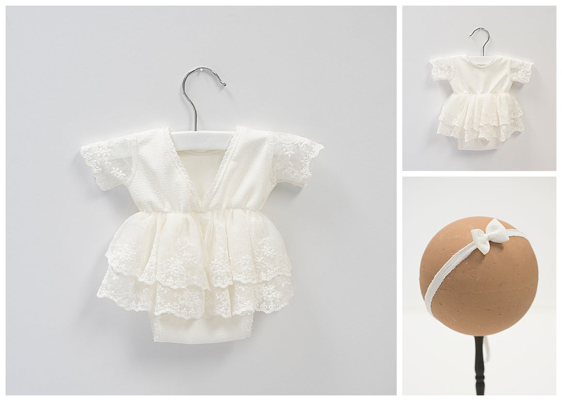 Lily Newborn Romper Dress
