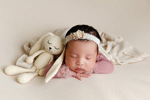 Enchanting Set Baby Wrap, Beanbag Headband, and Hat Set