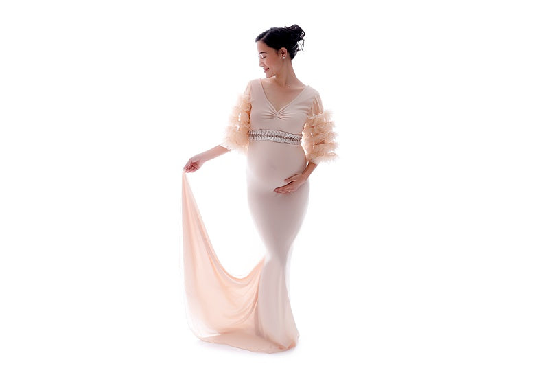 The Ruffleta Maternity Gown