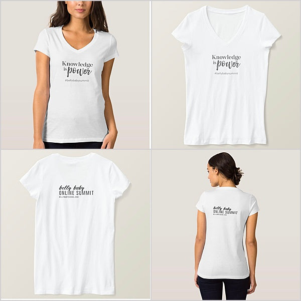 Belly Baby Summit V Neck Knowledge Tshirt