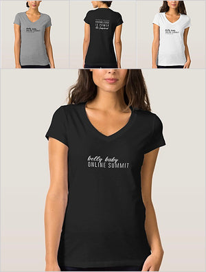 Belly Baby Summit V Neck Tshirt