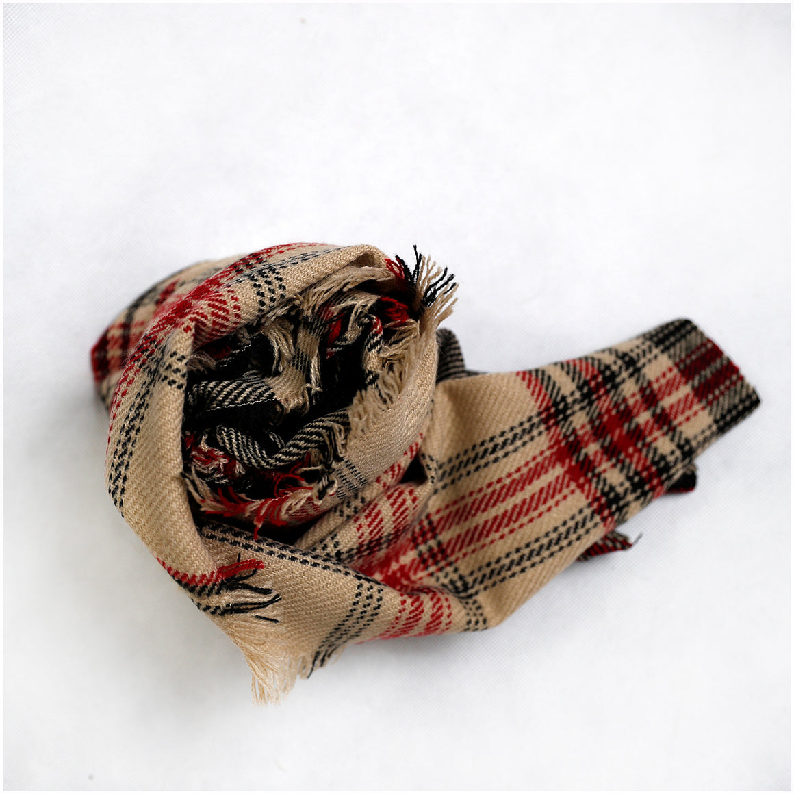 Camel Plaid Baby Wrap