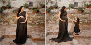 Midnight Soft Shimmer Mama Gown