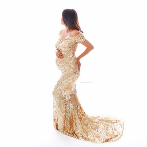 Gold Shimmer Luxury Gown