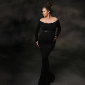 Onyx Black Maternity Sash