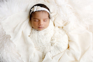 Lacey Cream Baby Wrap