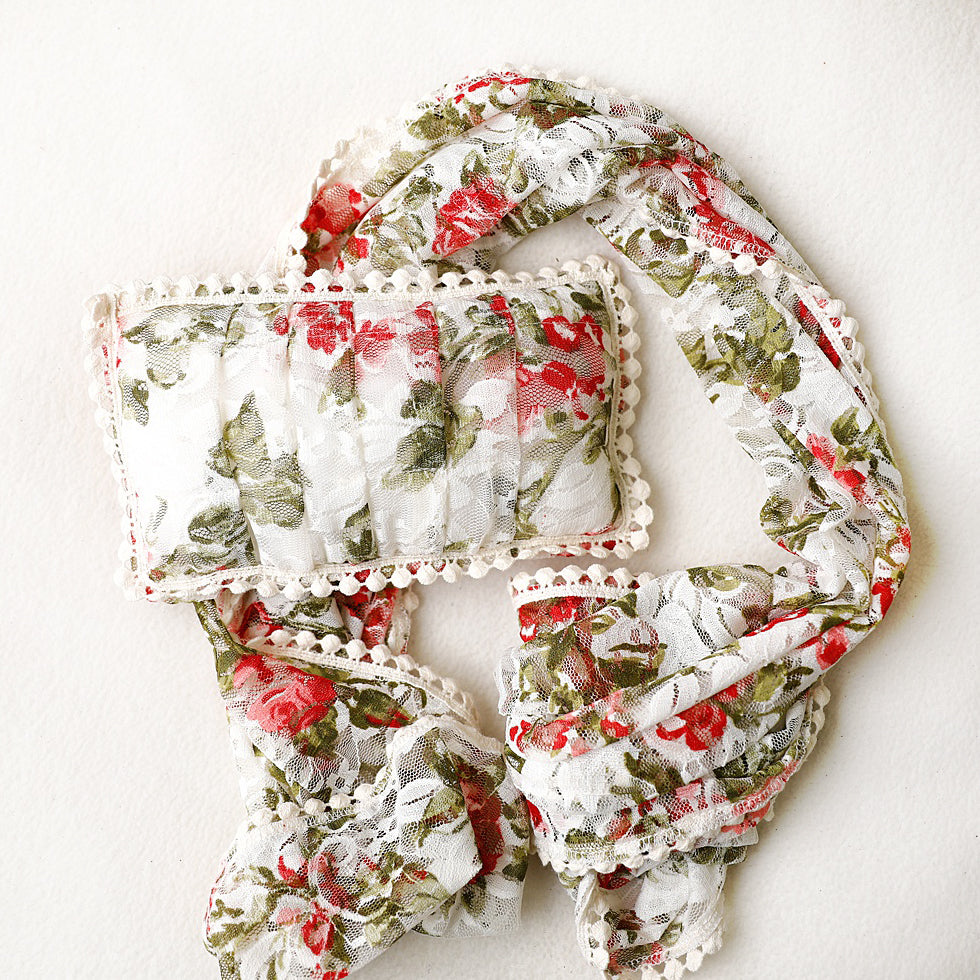 Pretty Petals Floral Baby Wrap and Pillow Set