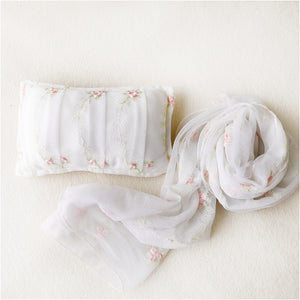Rosey Baby Wrap and Pillow Set