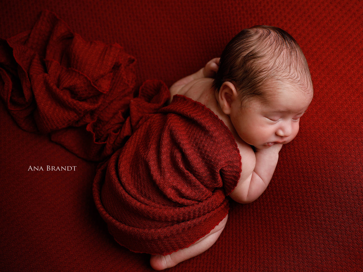 Berry Red Baby Wrap Set
