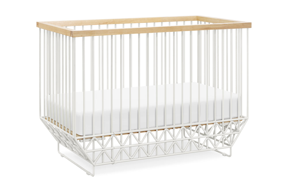 ubabub mod 2 in 1 metal convertible crib
