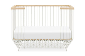 US0330RWN,Mod Crib in Warm White and Natural Finish