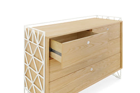 UB0340RWN,Mod Dresser in Warm White and Natural Finish