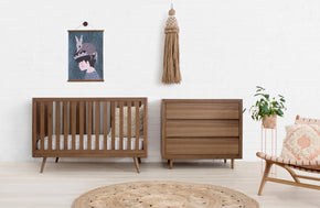 US0310UL,Nifty Timber 3-in-1 Crib In Walnut Finish