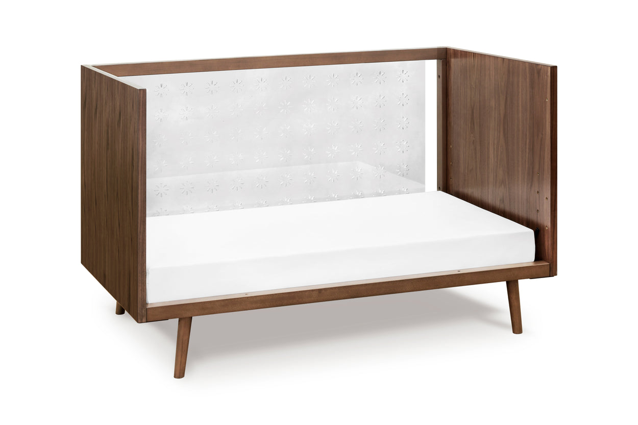 US0300UL,Nifty Clear 3-In-1 Crib In Walnut Finish