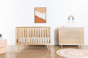 US0310BR,Nifty Timber 3-In-1 Crib in Natural Birch
