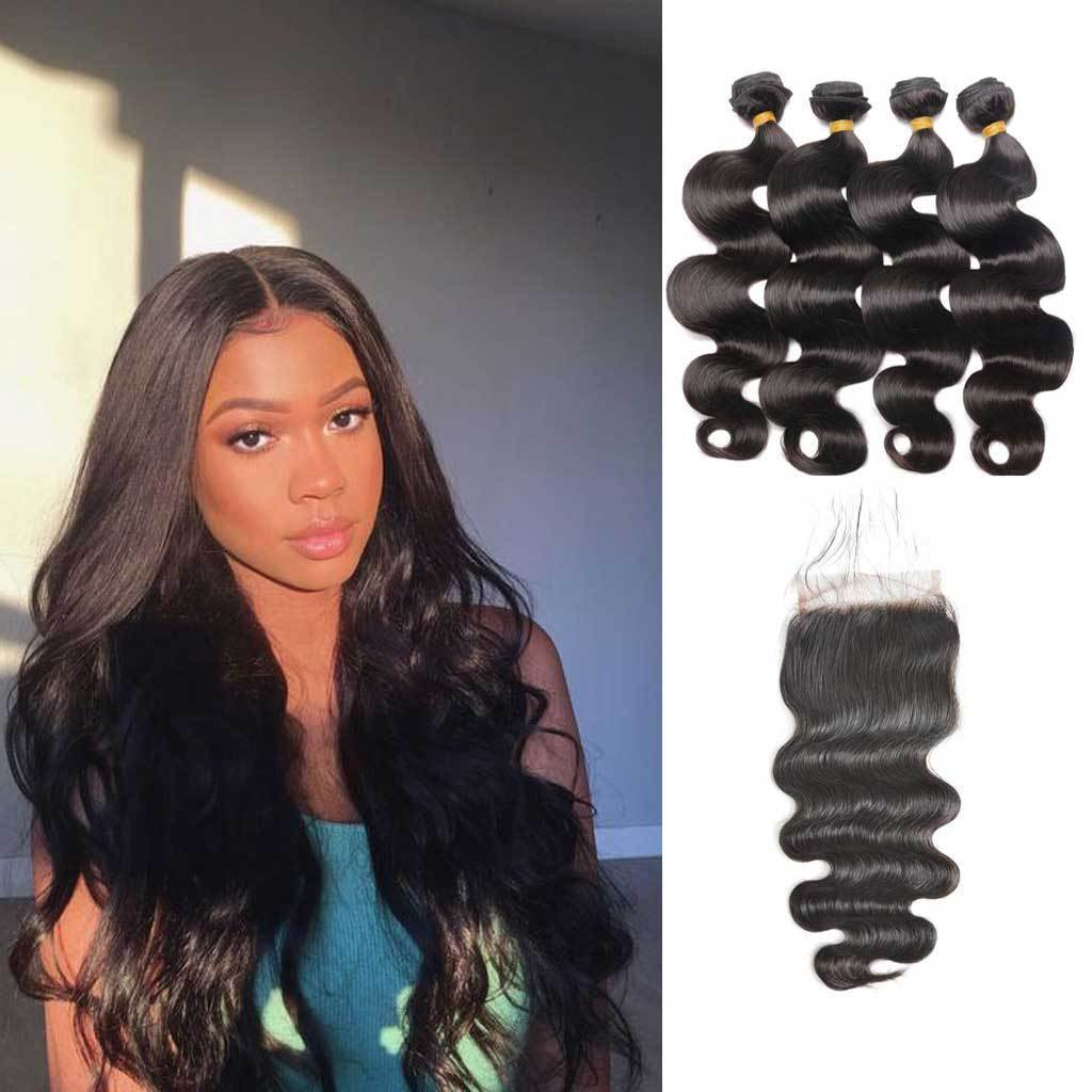 Bombtress-Brazilian-body-wave-virgin-hair-4-bundles-with-4x4-lace-closure-deal-cheap-human-hair-products