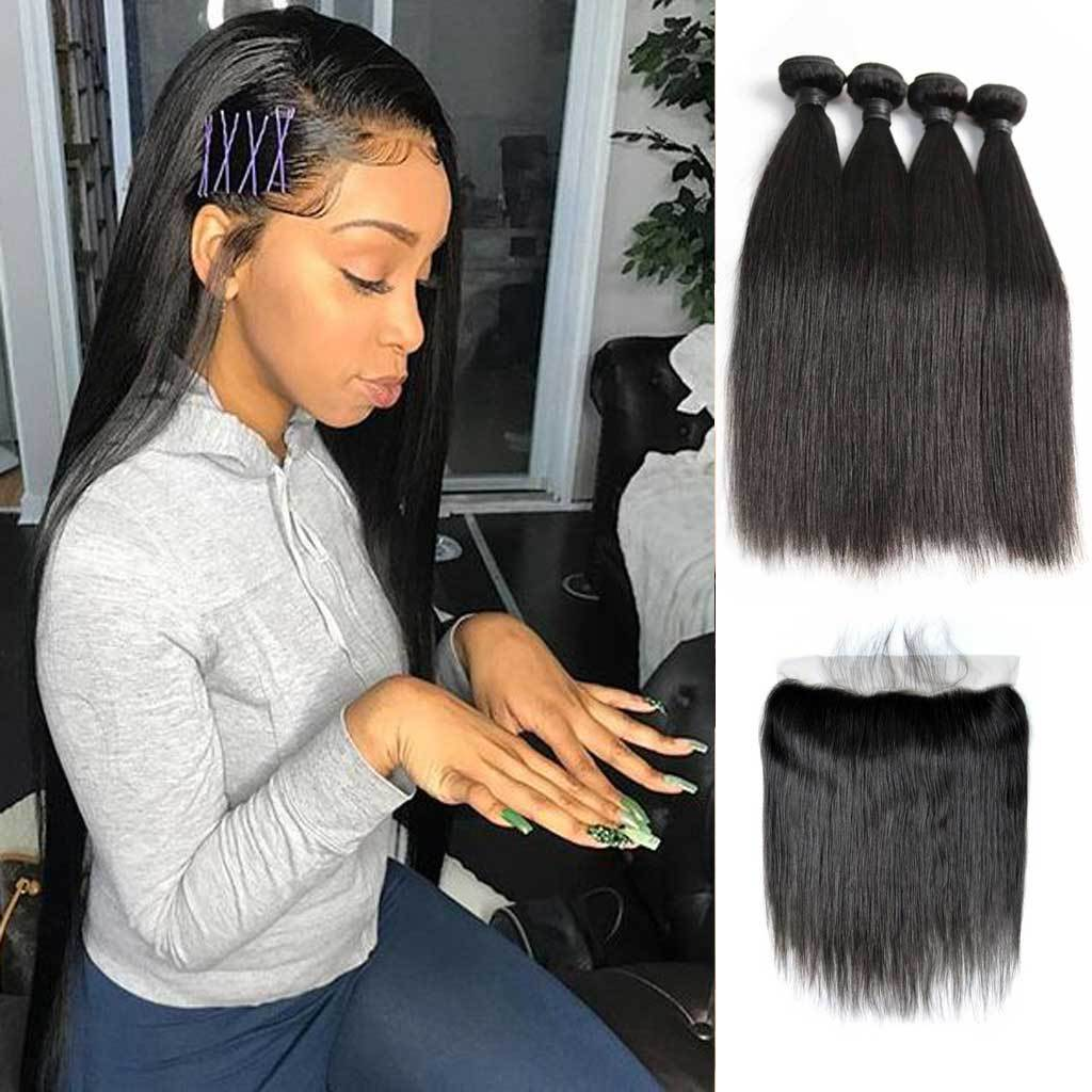 Bombtress-Brazilian-straight-virgin-hair-4-bundles-with-lace-frontal-deal-cheap-human-hair-on-sale