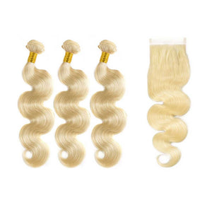 Brazilian-body-wave-Blonde-613-human-hair-bundles-with-lace-closure-deal