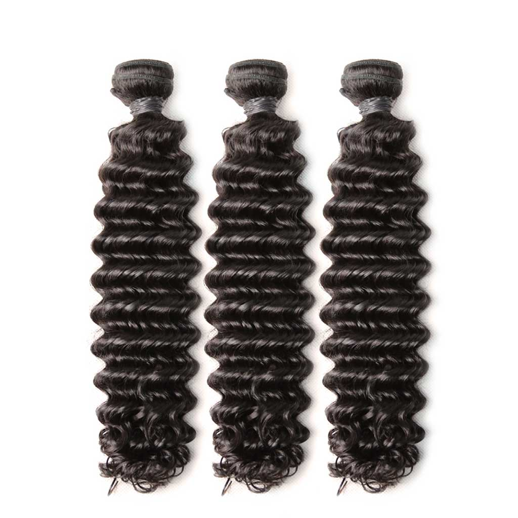 Brazilian-deep-wave-bundles with-frontal-closure-virgin-hair-weaves-with-preplucked-lace-frontal