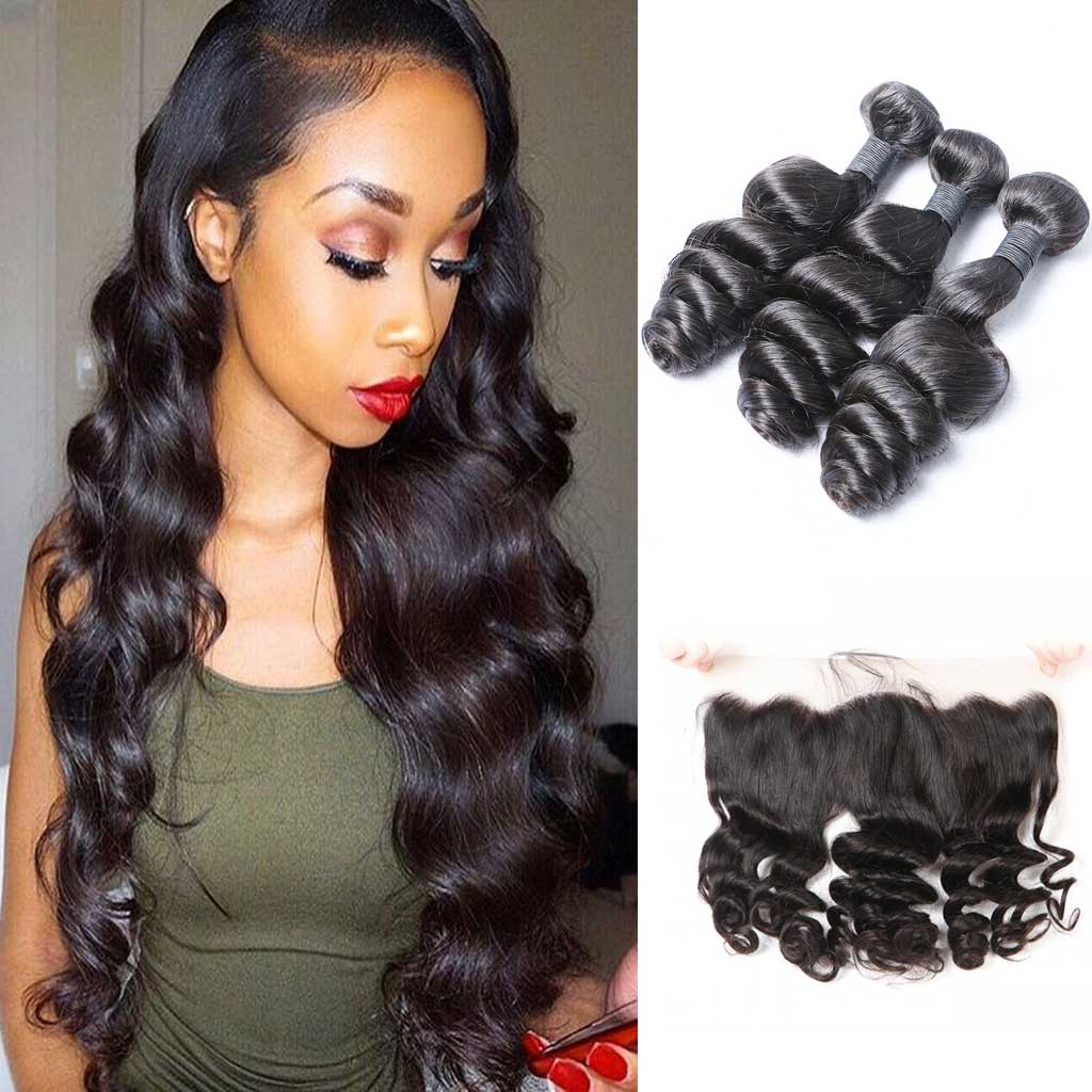 Brazilian-loose-wave-virgin-hair-bundles-with-4x13-preplucked-frontal-cheap-brazilian-hair-lace-frontal