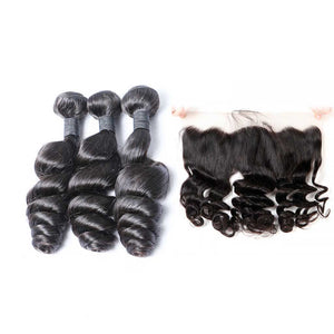 Brazilian-virgin-hair-loose-wave-lace-frontal-with-hair-bundles-cheap-human-hair