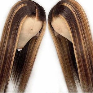 Highlight-straight-lace-front-wig-honey-brown-frontal-wig