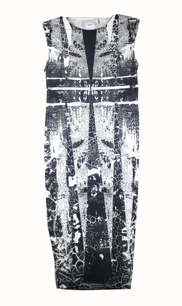 Becoming Maternity | Black and grey with crack print sleeveless ASOS Maternity dress