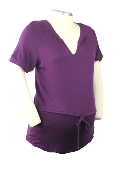Start your Becoming look with this rich purple super soft shirt and finish off your bump style with a perfectly placed belly bow.