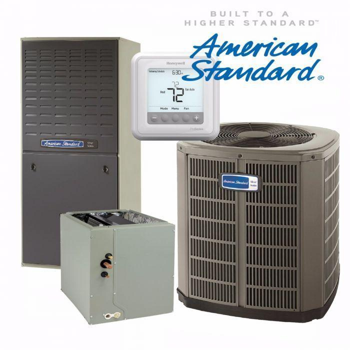 American Standard 4-Ton Gold 17 SEER Tow Stage Compressor with Gas Heat