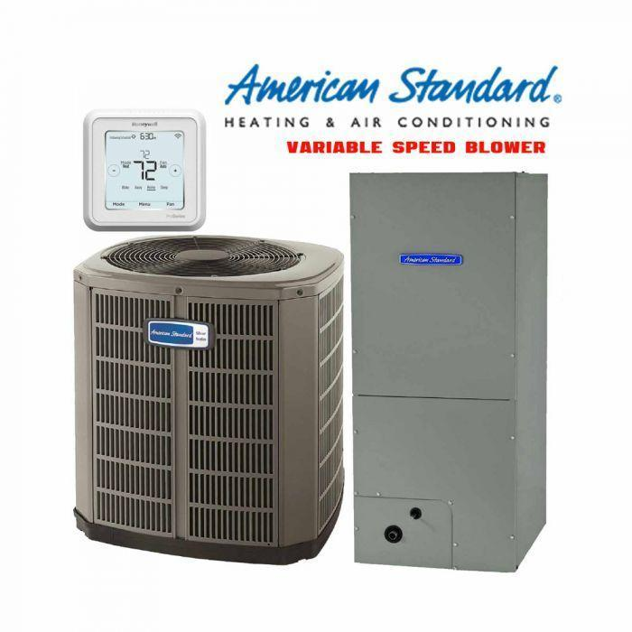 American Standard 4-Ton Gold 17 SEER 2-Stage Compressor with Electric Heat
