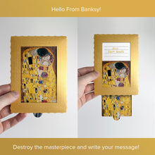 Load image into Gallery viewer, Hello From Banksy — Gustav Klimt - The Kiss, Postcards