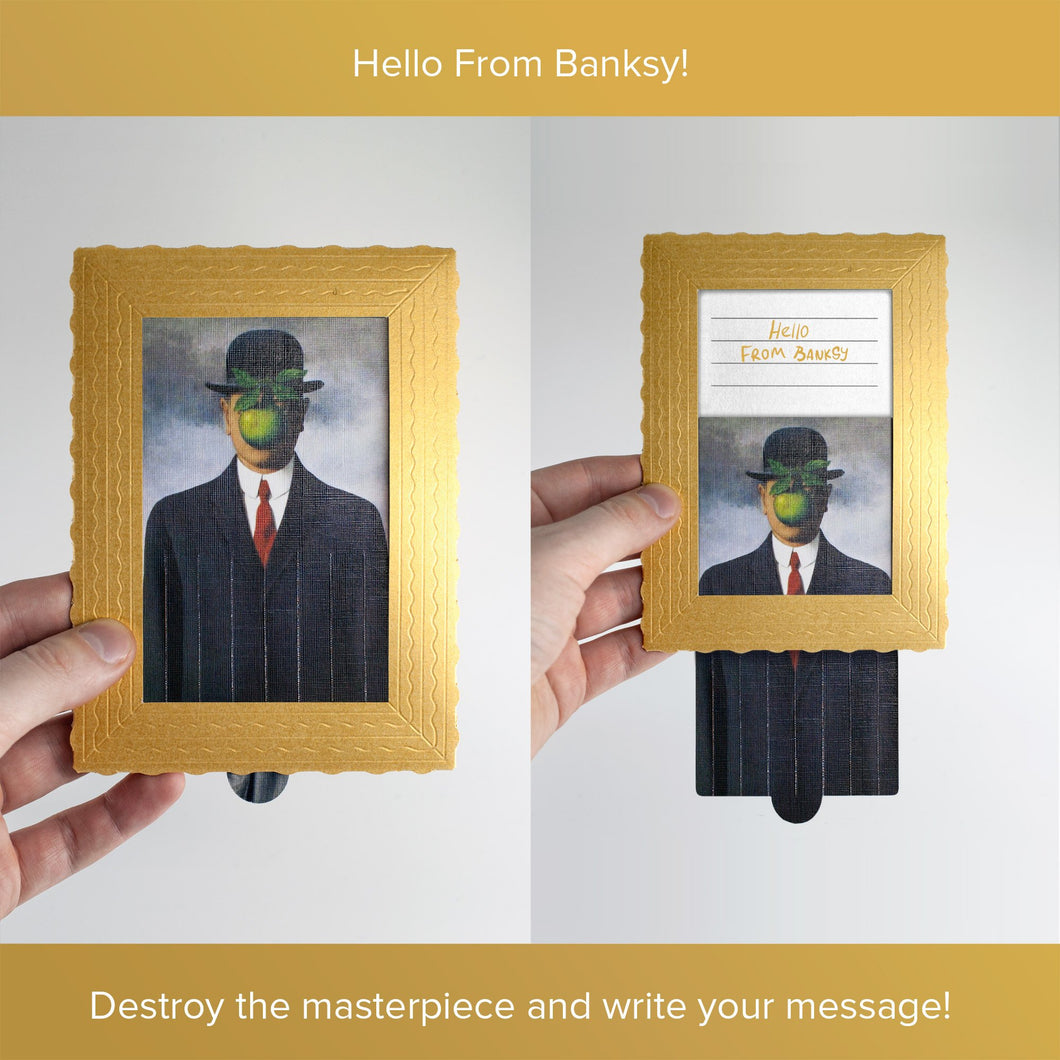 Hello From Banksy — Rene Magritte - The Son of Man, Postcards
