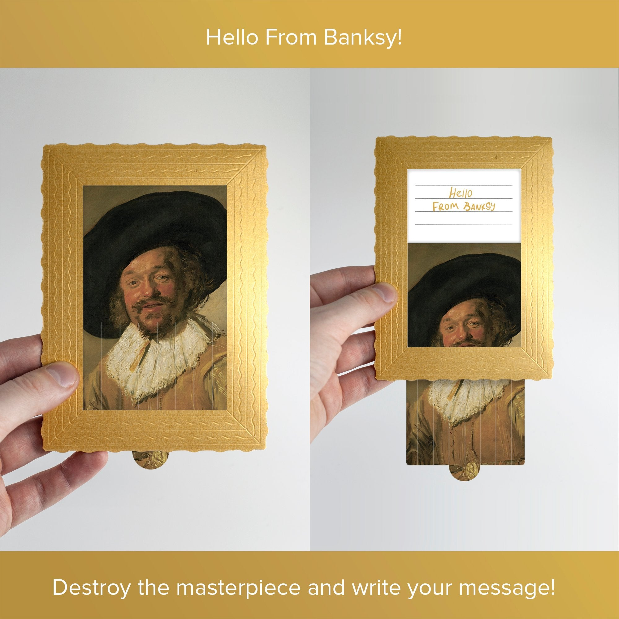 Hello From Banksy — Merry Drinker, Postcards