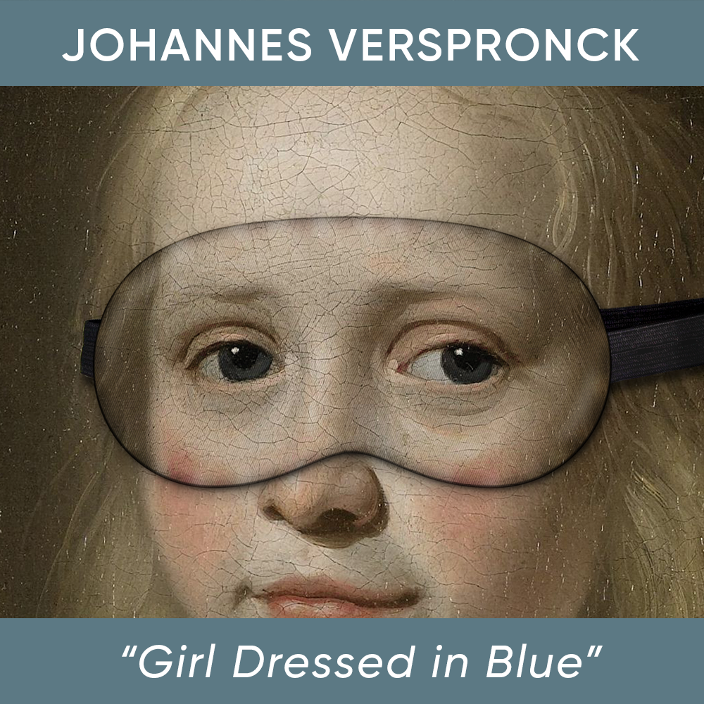 Girl Dressed in Blue Sleep Mask