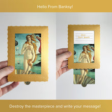 Load image into Gallery viewer, Hello From Banksy — The birth of Venus, Postcards