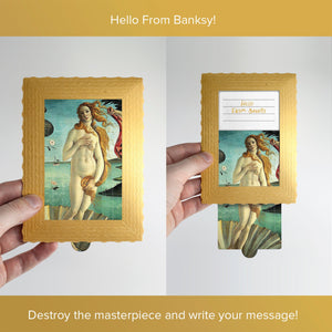 Hello From Banksy — The birth of Venus, Postcards