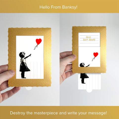 Hello From Banksy — Girl with Red Balloon, Postcards