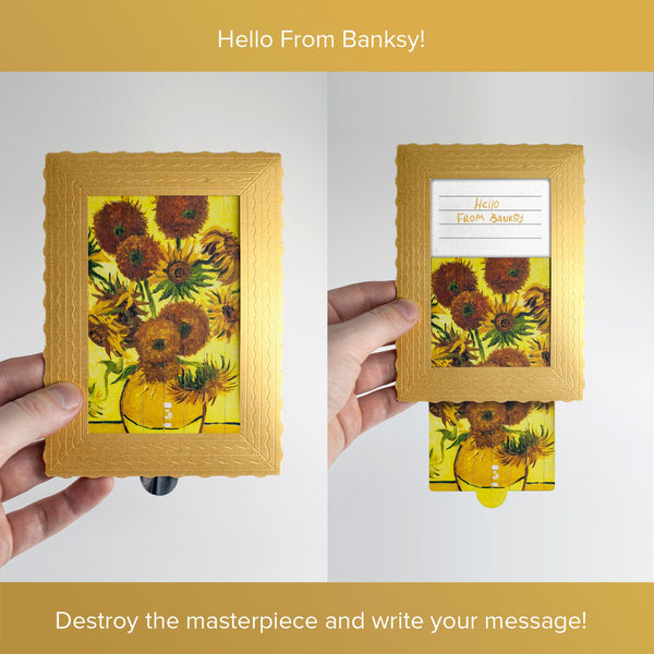 Hello From Banksy — Van Gogh - Sunflowers, Postcards