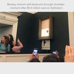 Hello From Banksy — Girl Dressed in Blue, Postcards