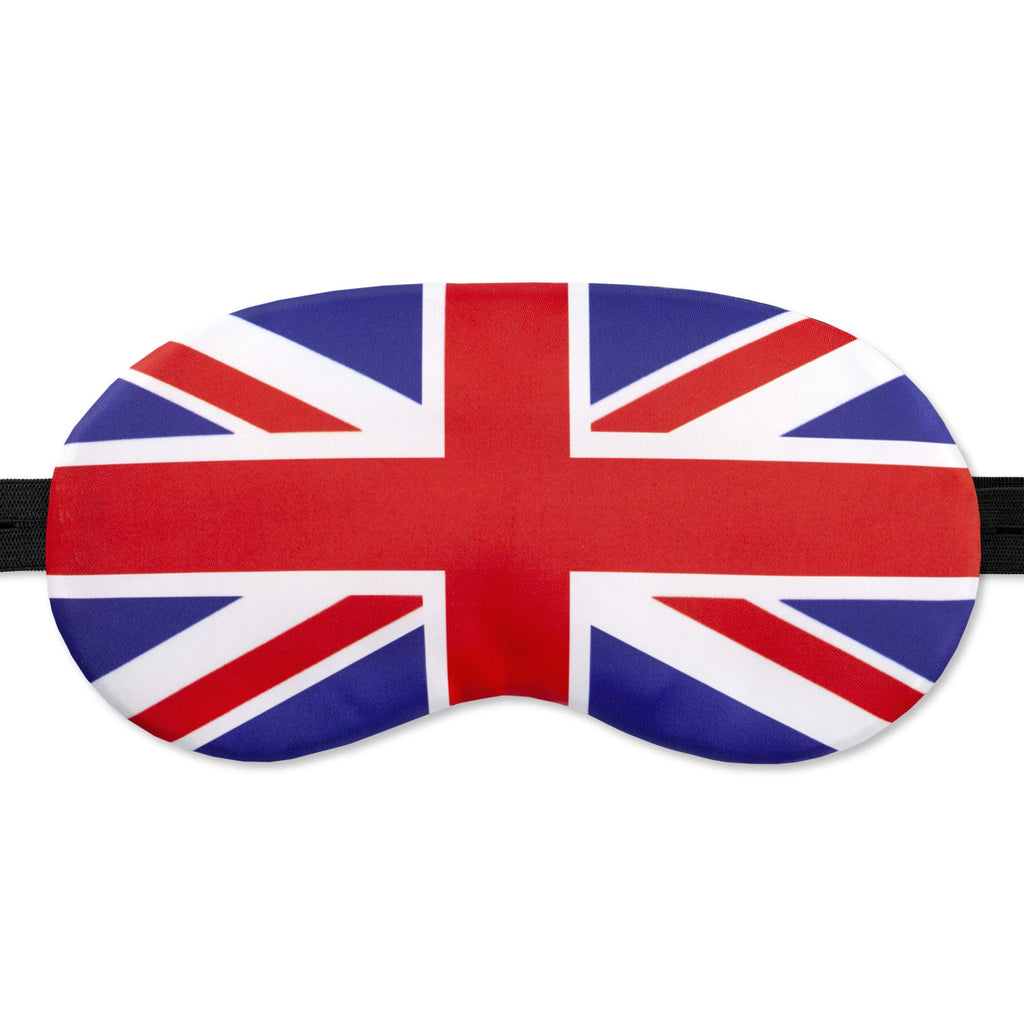 British Flag Sleep Mask GB Flag Great Britain England for Women Men - 100% Soft Cotton - Night mask Eye Sleeping Cover Blindfold Travel Mask (Britain, Plastic Pack)