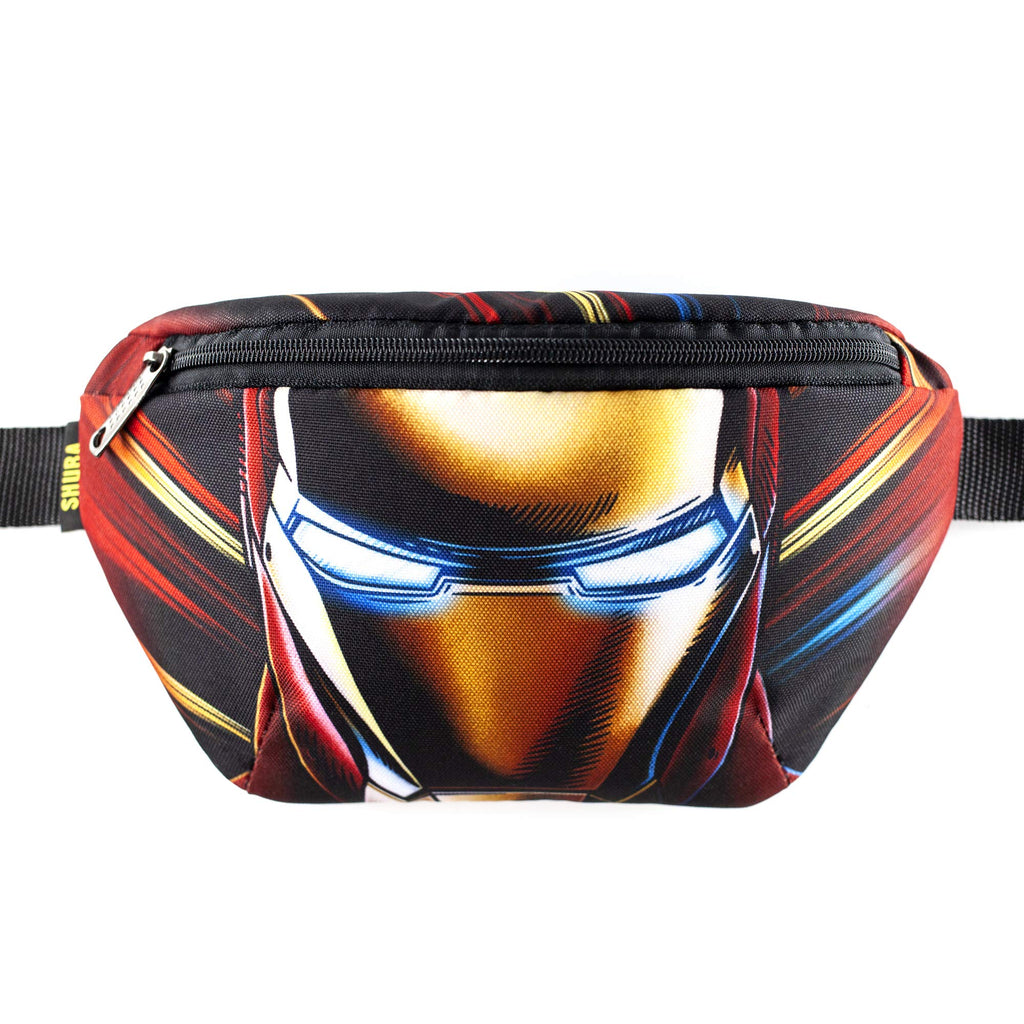 Casual Daypack Iron Man Bag Belt Waist Packs Crossbody Bag Adjustable belt bag, patterned Bag Casual (Bronze)