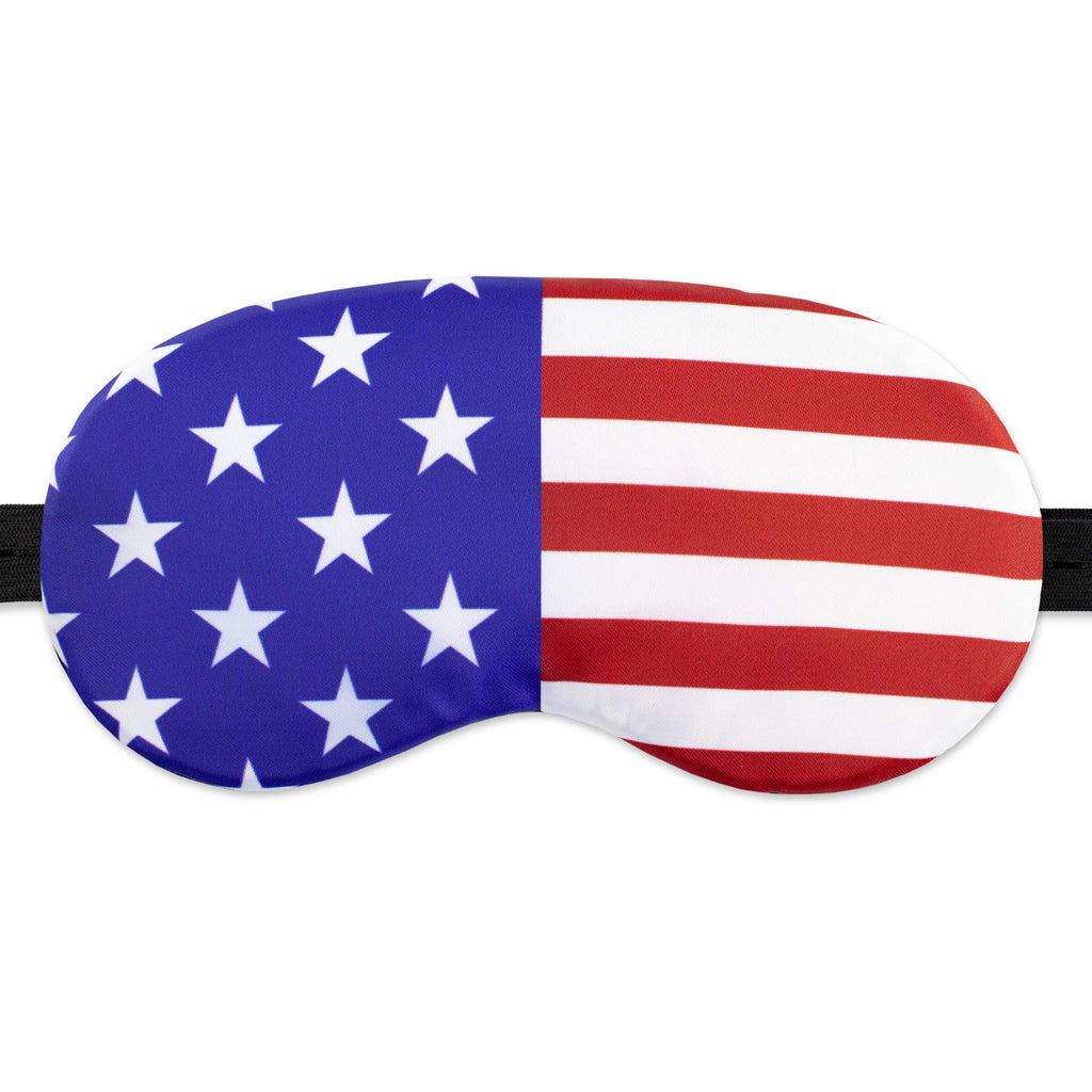 American Flag Sleep Mask USA for Women Men - 100% Soft Cotton - Eye Sleeping Mask Night Cover Blindfold America Great Again (America, Plastic Pack)