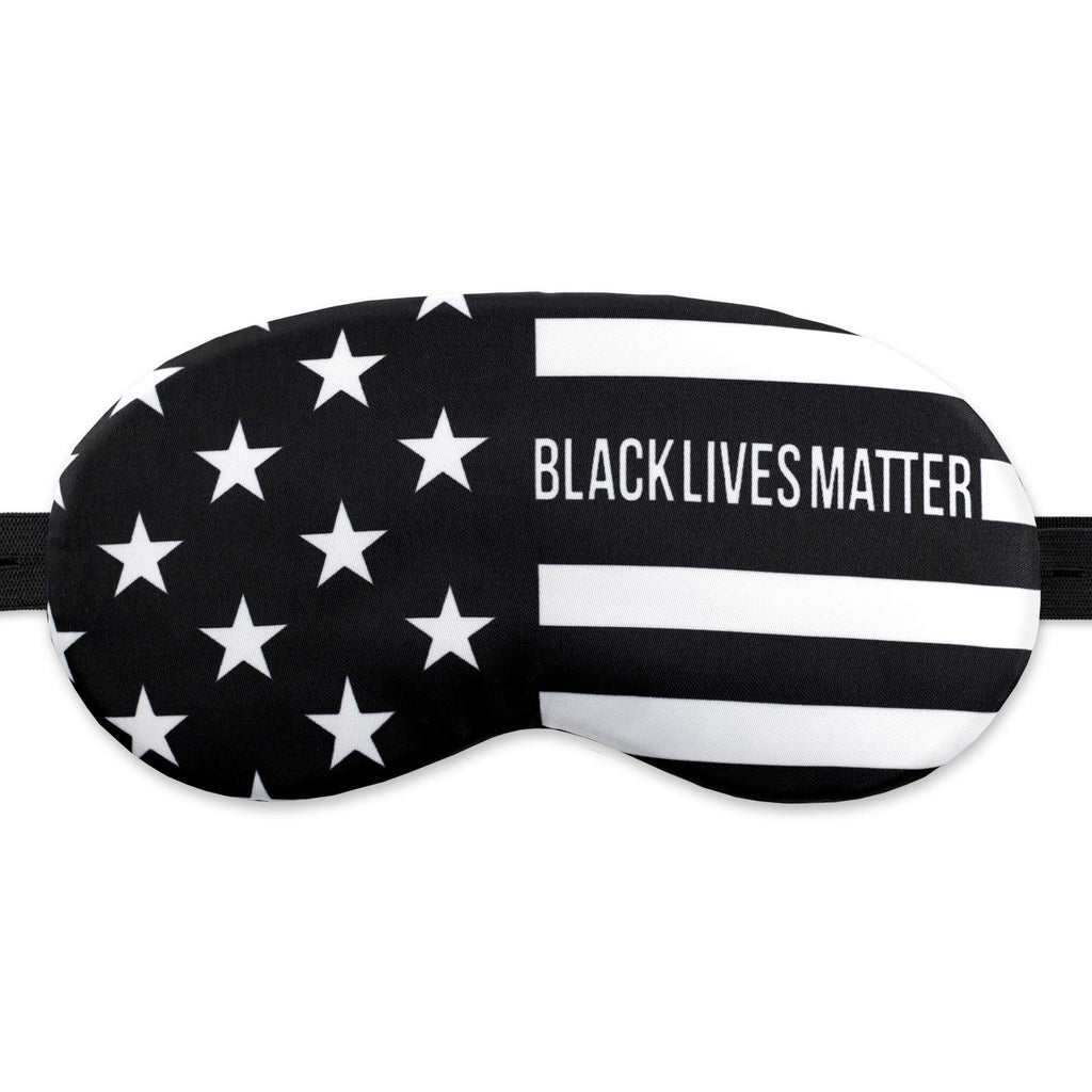 Sleep Mask Soft Eye Mask BLM Great America BW USA Flag for Women Man - 100% Soft Cotton - Comfortable Eye Sleeping Mask Night Cover Blindfold for Travel Airplane America Art (BLM1, Plastic Pack)