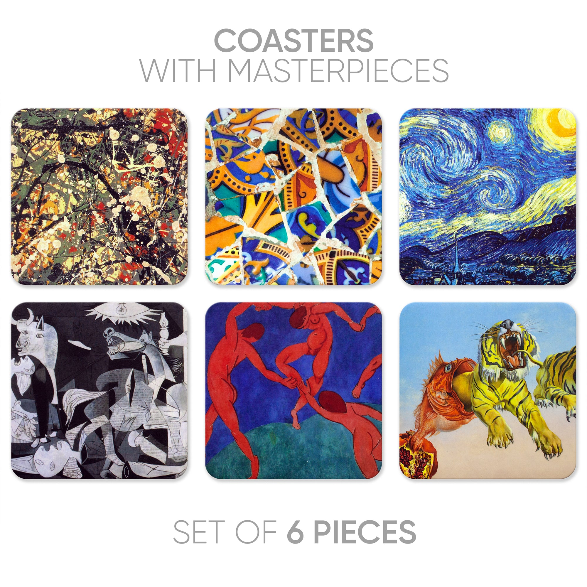 Coasters Abstract-1 (6 in 1)