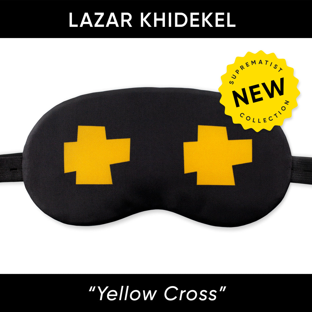 Yellow Cross Sleep Mask