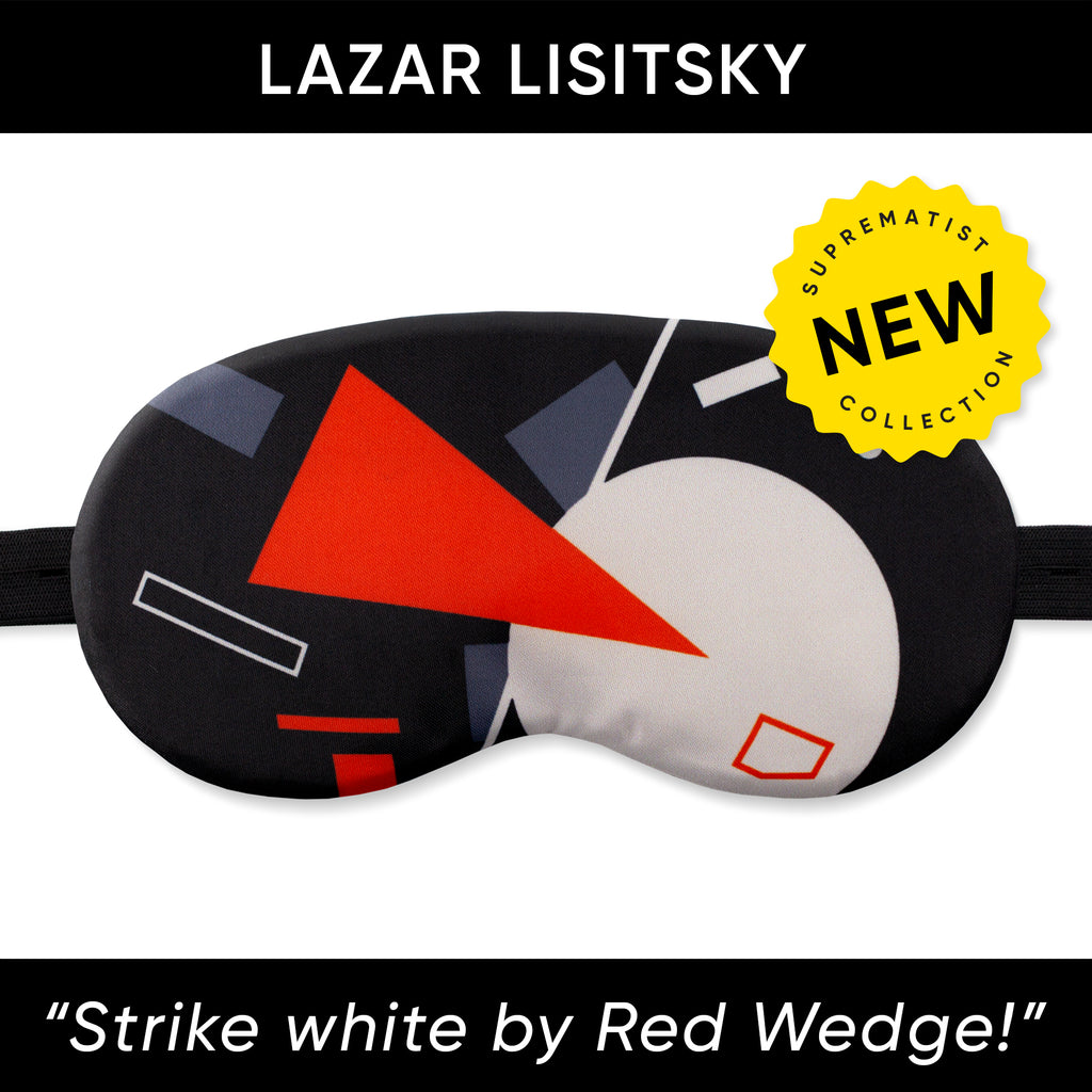 Strike white by Red Wedge Sleep Mask